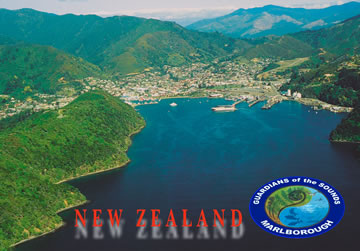 Picton seen from the Marlborough Sounds