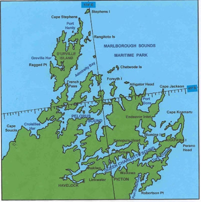 Marlborough Sounds Area Map